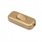 Double Pole in-line Switch, Gold - 1 pc