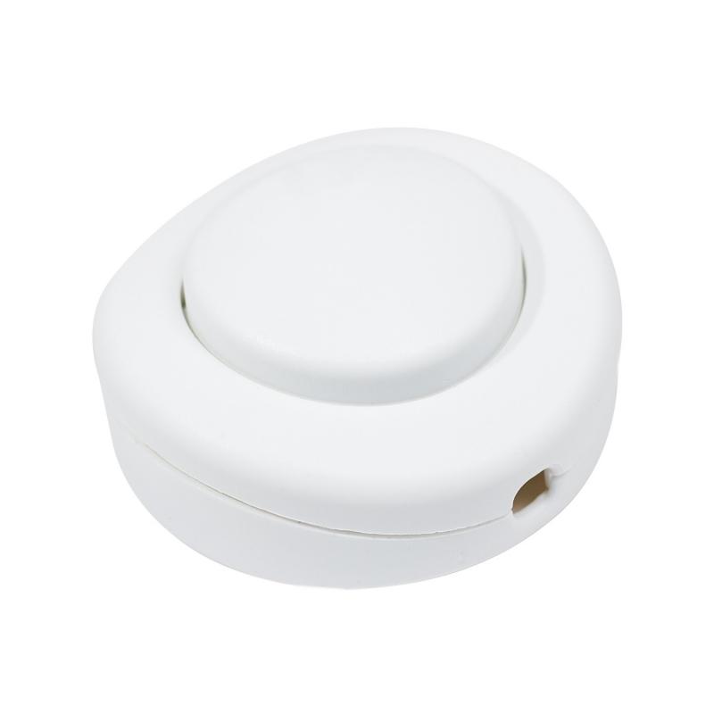 Single Pole in-line Foot Light Switch, white