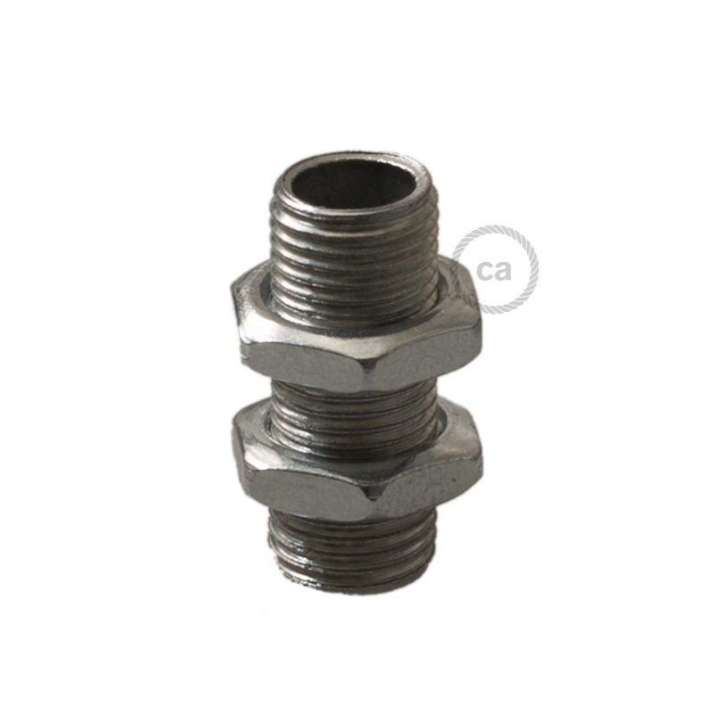 All thread hollow threaded tube + nuts - Packing: 1 piece