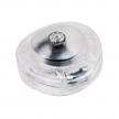 Single Pole in-line Foot Light Switch Transparent