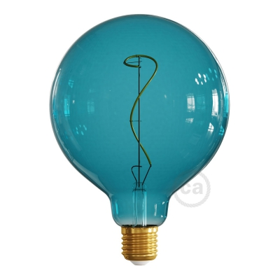 LED Light Bulb G125 Ocean blue, Pastel collection, vine filament 4W E27 Dimmable 2200K
