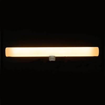 S14d LED tube linear line opal light bulb - 300 mm lenght 8W 2200K dimmable - for Syntax