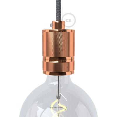 Milled aluminium E27 lamp holder kit with shade rings