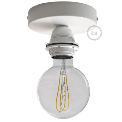 Fermaluce Metal with E27 threaded lamp holder, the metal wall or ceiling light source