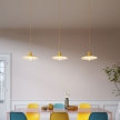 Swing lampshade in polished metal with E27 fitting