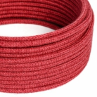RN24 Cherry Red Jute Round Electrical Fabric Cloth Cord Cable