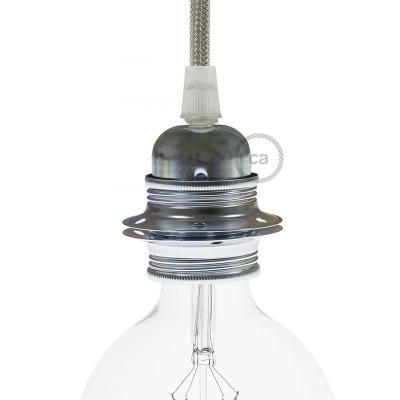 Metal E27 lamp holder kit for lampshade