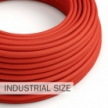 Large section electric cable 3x1,50 round - covered by rayon Red RM09