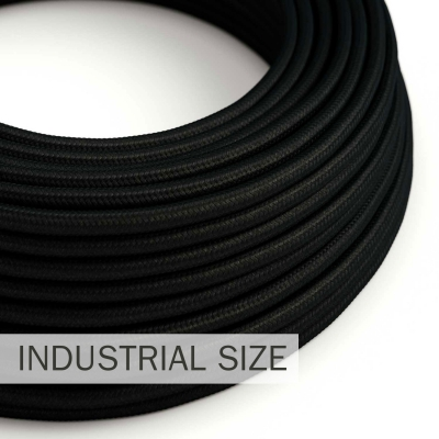 Large section electric cable 3x1,50 round - covered by rayon Black RM04