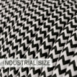 Large section electric cable 3x1,50 round - covered by rayon ZigZag Black RZ04