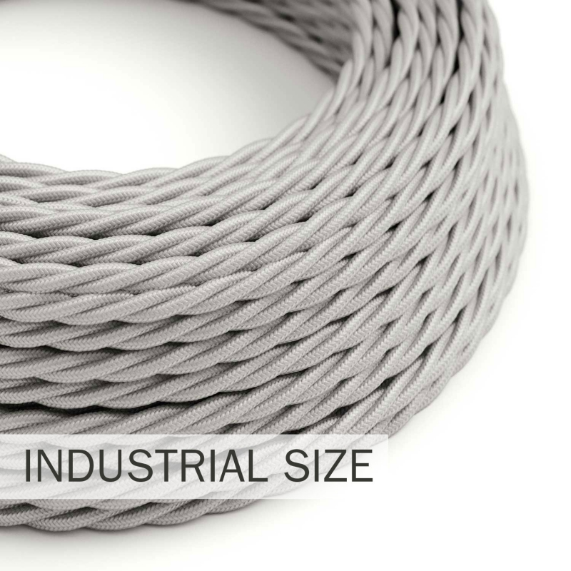 Large section electric cable 3x1,50 twisted - covered by rayon Silver TM02