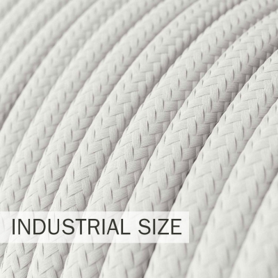 Large section electric cable 3x1,50 round - covered by rayon White RM01
