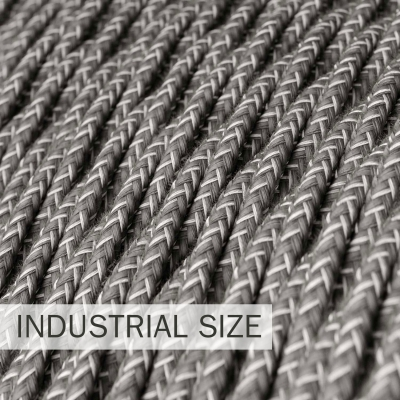 Large section electric cable 3x1,50 twisted - covered by Natural Grey Linen TN02