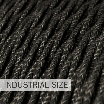 Large section electric cable 3x1,50 twisted - covered by Natural Anthracite Linen TN03