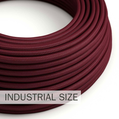 Large section electric cable 3x1,50 round - covered by rayon Burgundy RM19