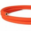 Creative-Tube flexible conduit, Solid Color Fluo Orange RF15 fabric covering, diameter 20 mm