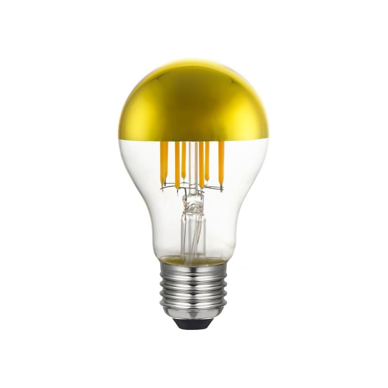 Gold half sphere Drop A60 LED light bulb 7W E27 2700K Dimmable