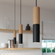 Tub-E14, wood and metal tube for spotlight with E14 double ring lamp holder