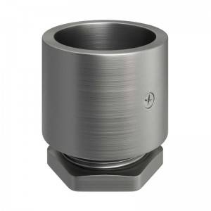 Zinc-plated metal threaded cable terminal for 20 mm Creative-Tube, screw clamps included