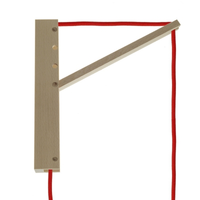 Pinocchio, adjustable wooden wall bracket for pendant lamps