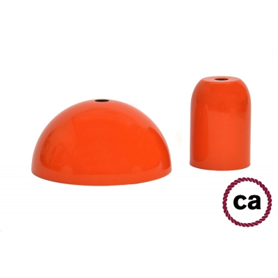 Orange painted socket and rose kit, without cable