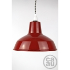 Metal Shade Pendant Red with B/W Houndstooth