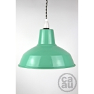 Metal Shade Pendant Peppermint with B/W Houndstooth