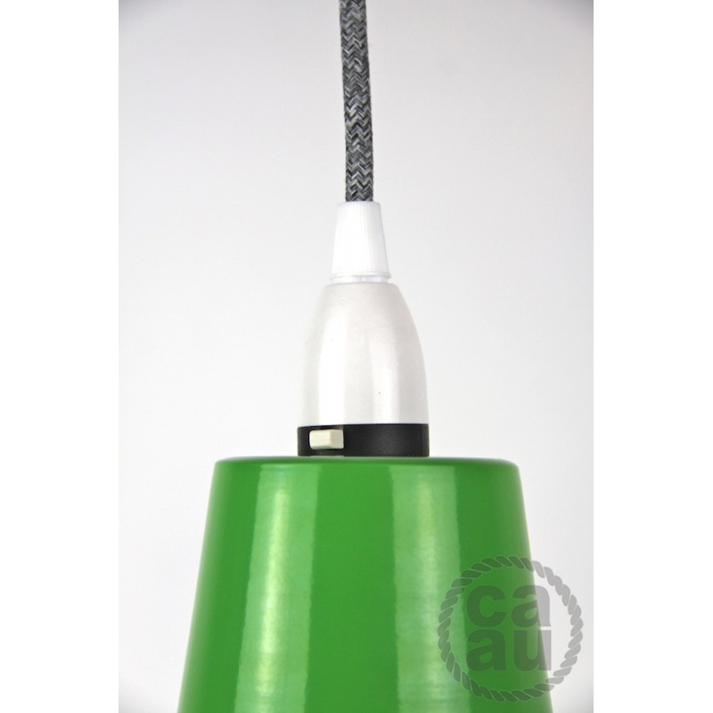 Metal Shade Pendant Green