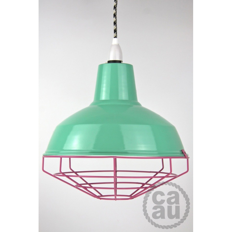 Cage Shade Peppermint & Pink