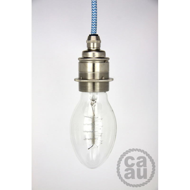 Green Painted Cup E27 Lamp Holder 1 Transparent Cable
