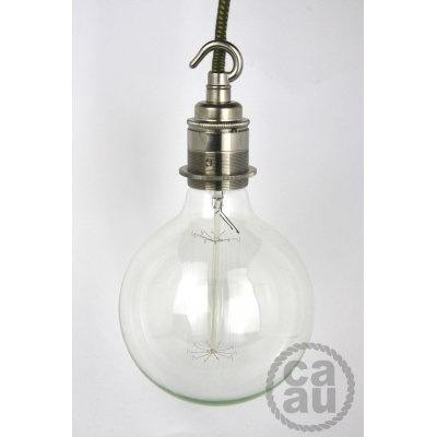 Lampholder Large Nickel with Hook