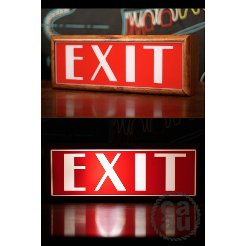 Lightbox Exit Sign
