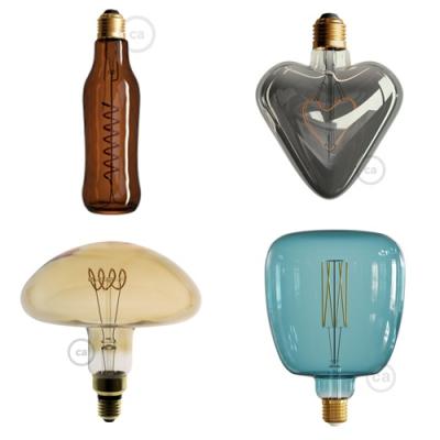 Lightbulb shapes.